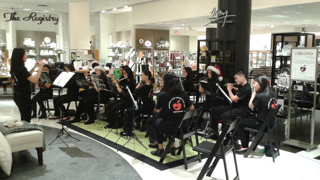 MYO Flute Choir at Bloomingdales_12.11.2013