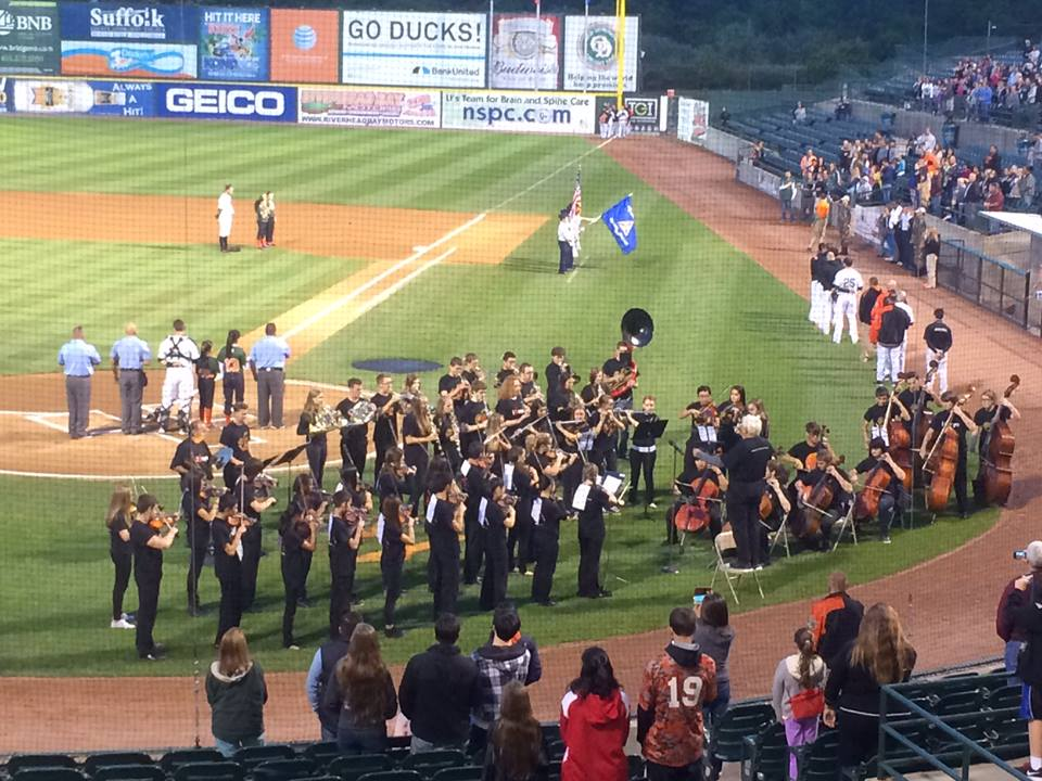 Suffolk Principal Orchestra_LI Ducks Game 9.19.2014