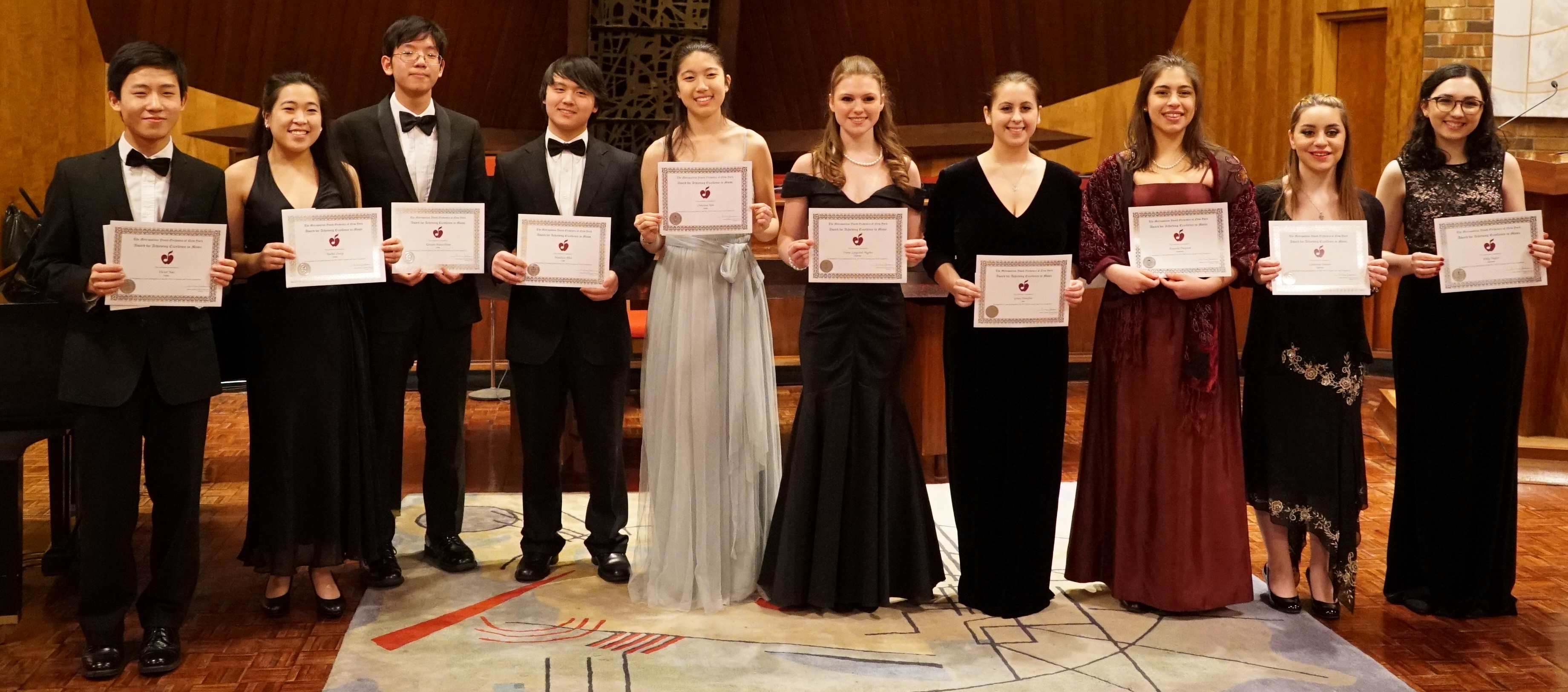 2016-2017 Concerto and Vocal Competition Finalists