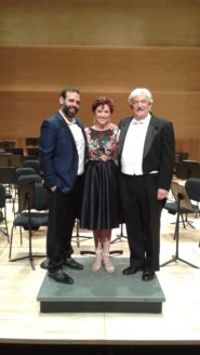 MYO Alumni Concert Guest Soloists Dimitri Pittas and his wife Leah Edwards with Director Phil Preddice June 12, 2016 at Adelphi University Performing Arts Center