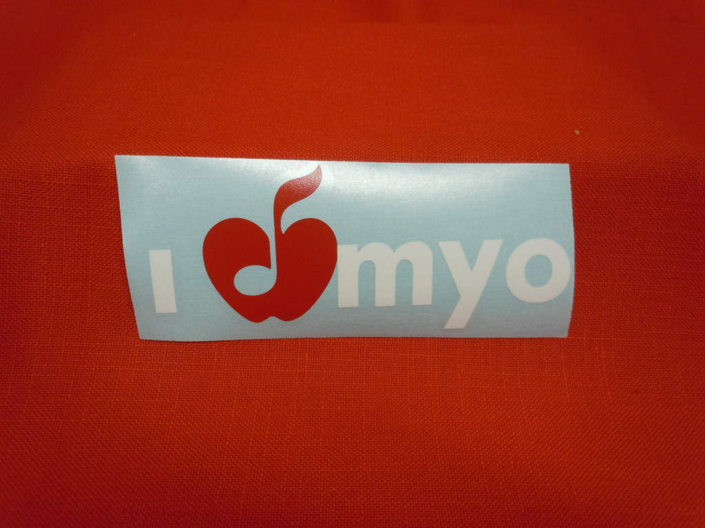 MYO Decal Sticker, $3