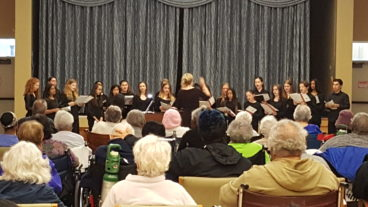 Nassau Concert Choir performs at the Parker Jewish Institute for Health Care and Rehabilitation on Tuesday, May 22, 2018