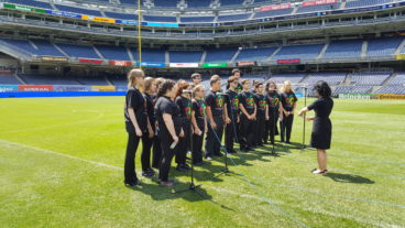 Suffolk Youth Chorale performs at Yankee Stadium for New York City Football Club