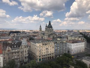 Shot from the top of the Budapest Eye